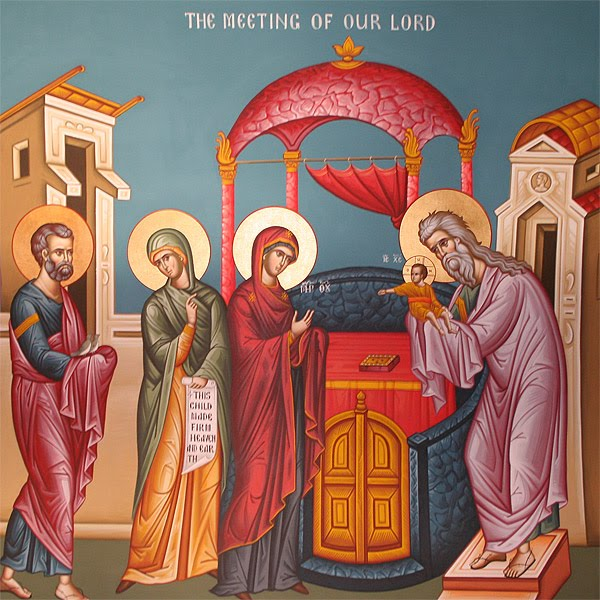 Image result for presentation of jesus christ in the temple icon