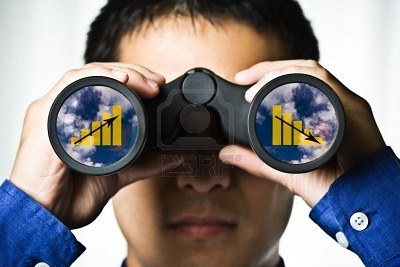 4325478-a-businessman-looking-through-binoculars-seeing-conflicting-trends-in-earnings-prediction-can-be-use