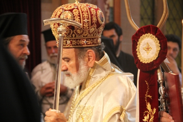 Archbishop Stylianos of Australia in Litrugy