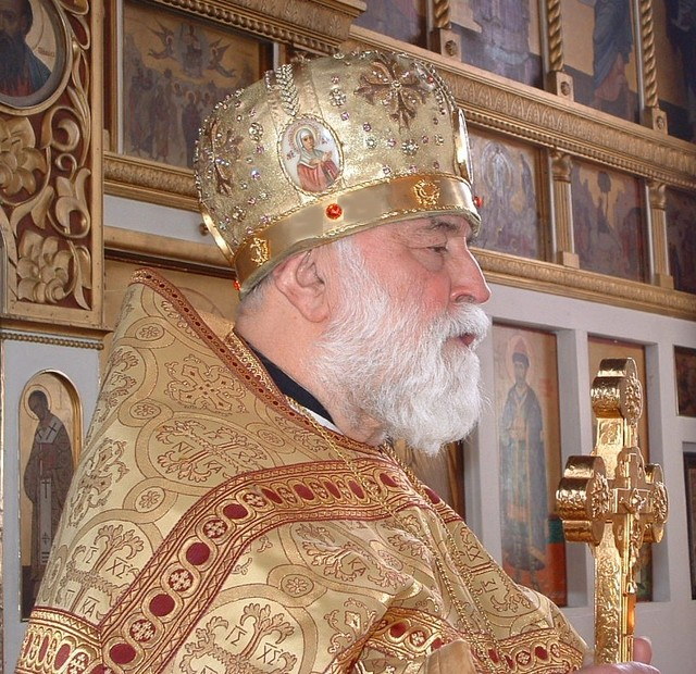 Mitred Russian priest