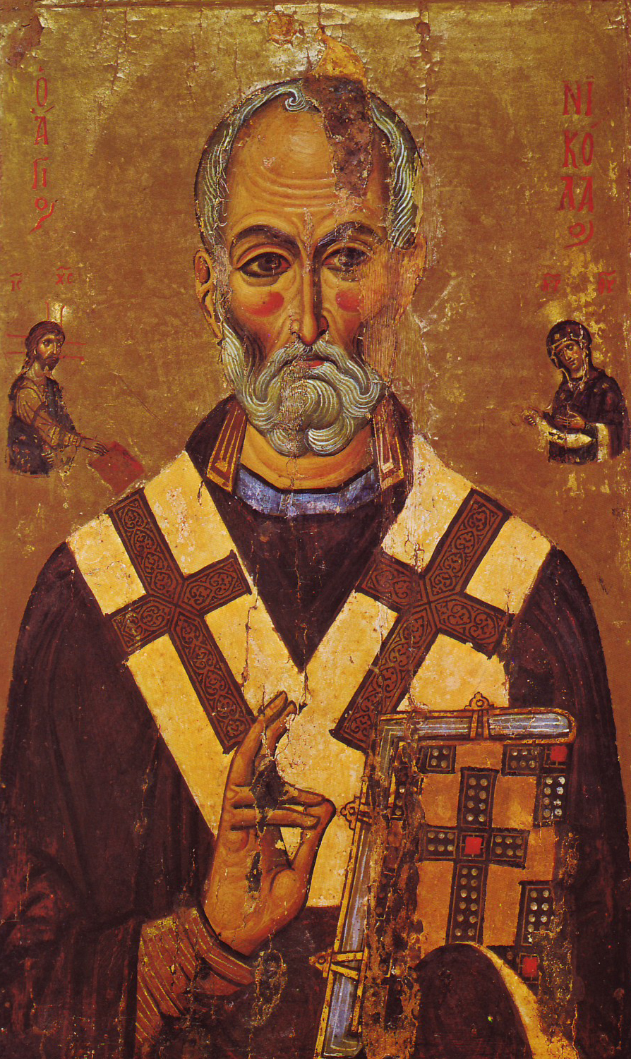 St_Nicholas_of Myra -Sinai_Icon 13th_century