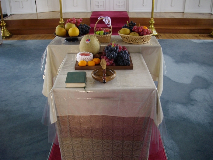 Offering in Japanese Orthodox Church