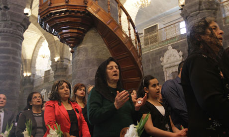 Syrian Christians in fervent supplication