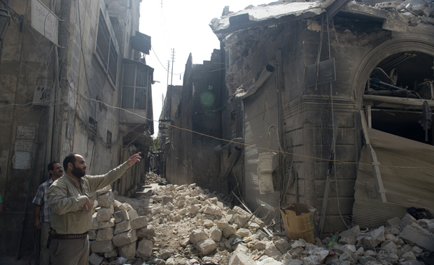 Aleppo Old City in ruins