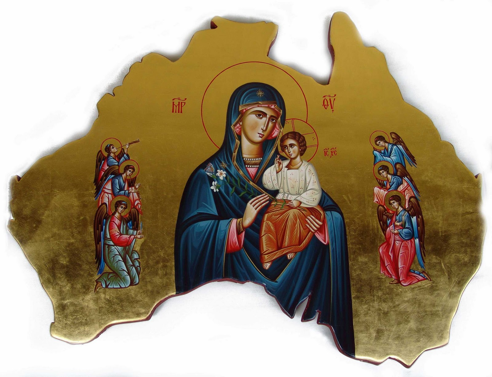 Icon of Christ & the Theotokos of Australia