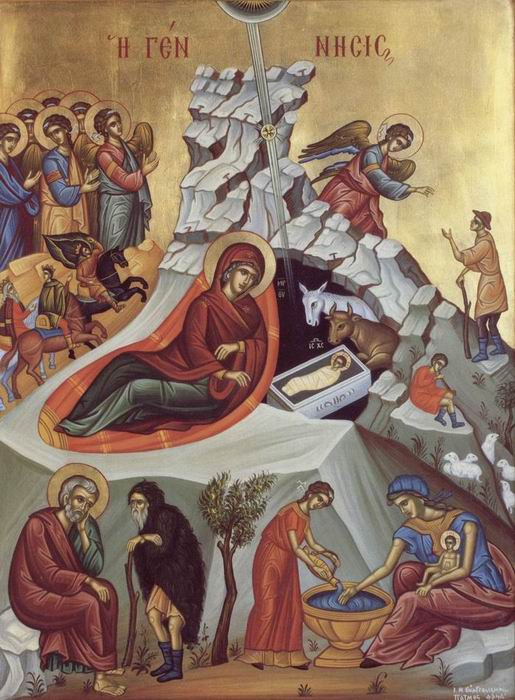 Icon of the Nativity - Festal Icon of the fist day of Dodecaimeron