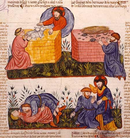 Cain & Abel_Sephardic Jewish Manuscript