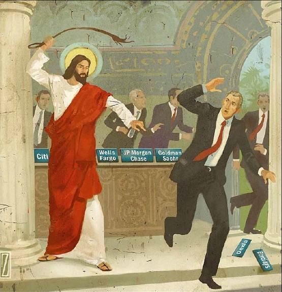 Christ punishes modern day deceitful merchants