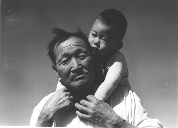 Grandfather & grandson - the cycle of human life
