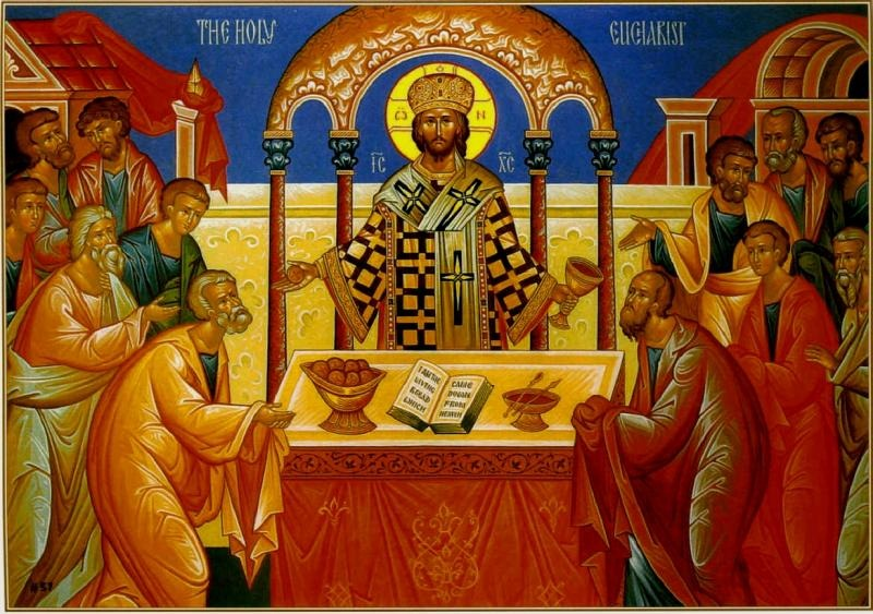Icon of Christ High Priest & the Holy Eucharist