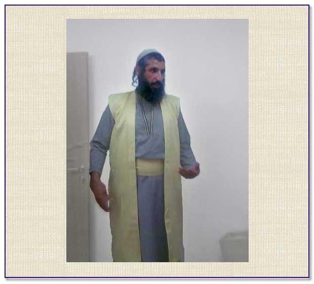 Levite garment modelled
