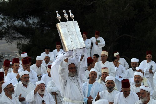 Samaritans at religious feast_Mt Gerizim