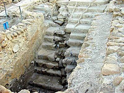 Steps of an ancient Mikvah at Qumran - Pool for ritual purification