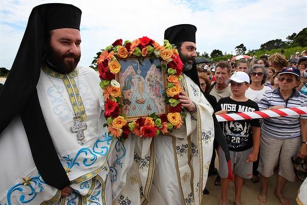 Epiphany Procession_Fr Sophrony & Fr Kyrillos_Yarra Bay_Sydney