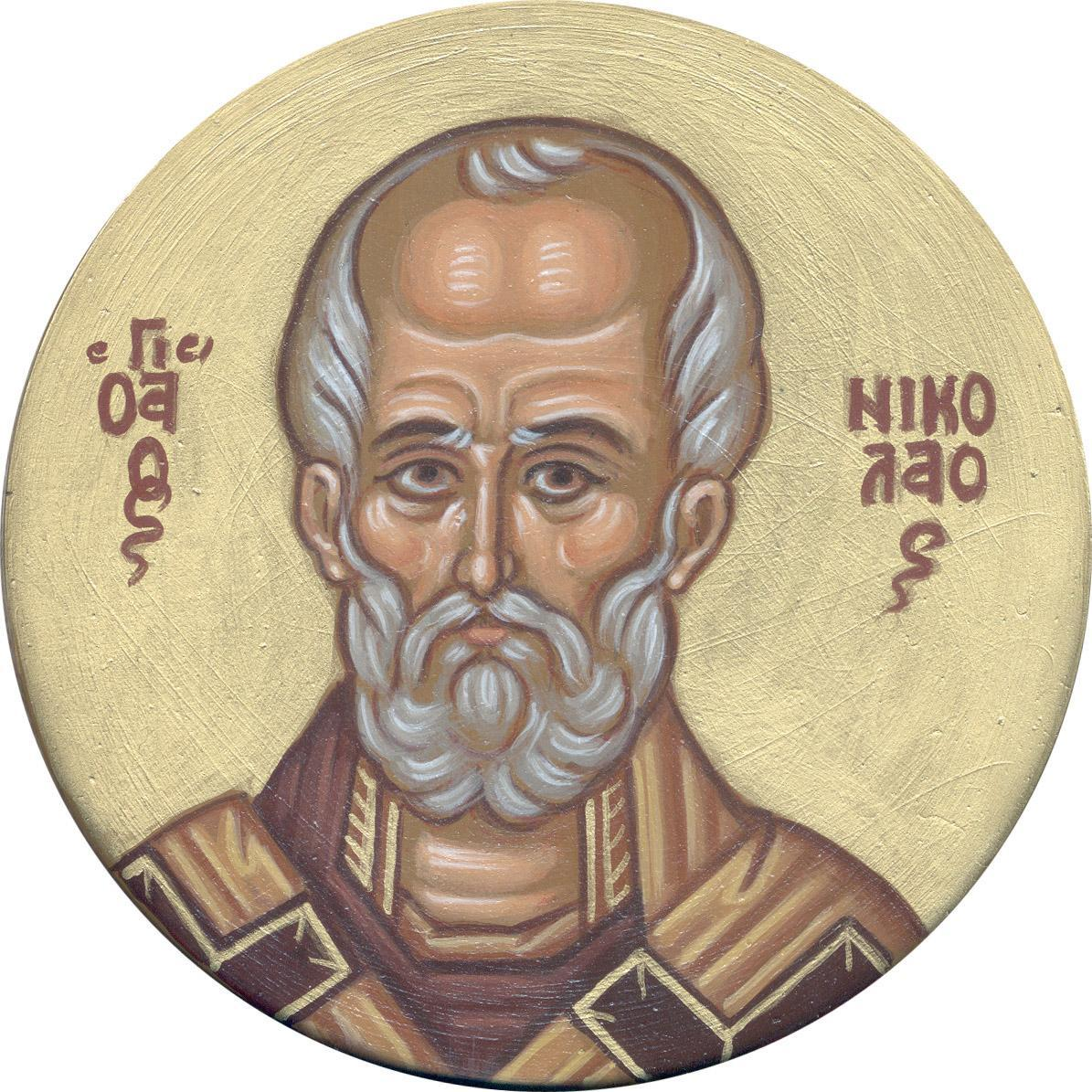 St Nicholas of Myra by Monk Arsenios