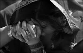 Pakistani Christian woman grieving