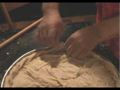 Vasilopita being made
