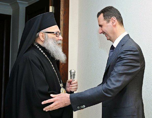 Patriarch John X and President Bashar Al-Assad01