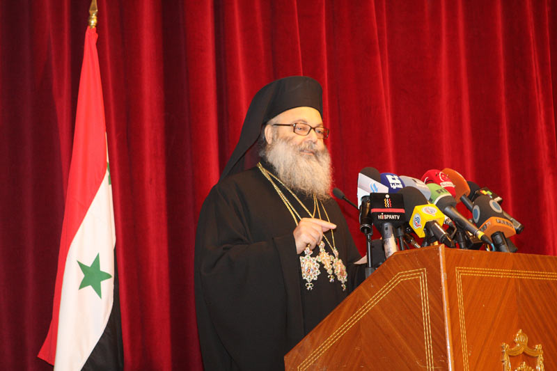 Patriarch John X of Antioch at Press Conference