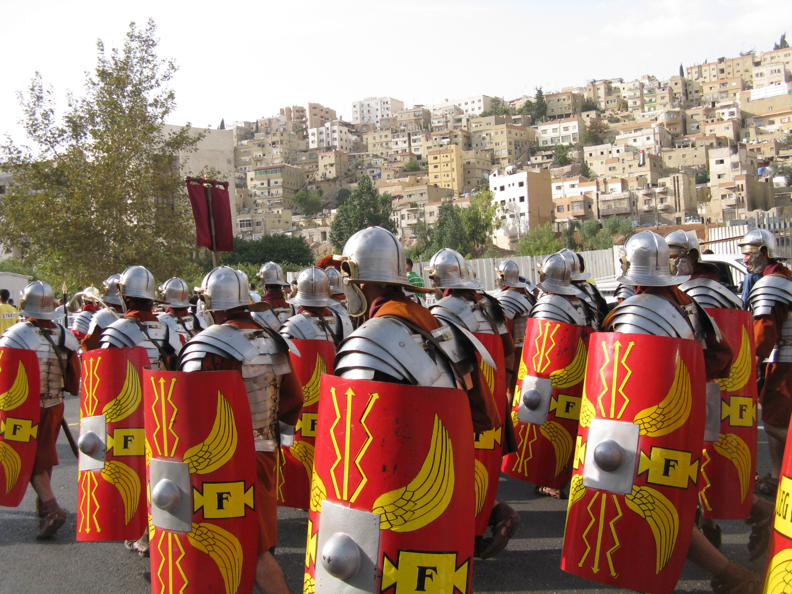 Roman soldiers in Amman