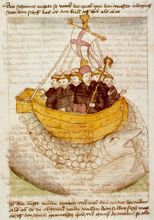 Saint Brendan - German manuscript