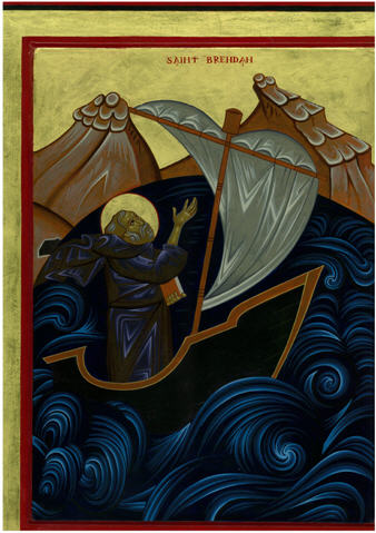 St Brendan at Sea by Galovic