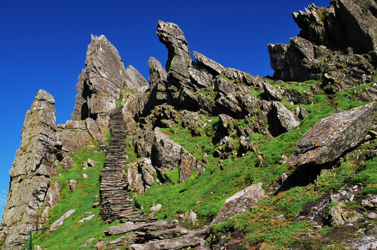 Stairs leading to monastic community of Skellig Michael