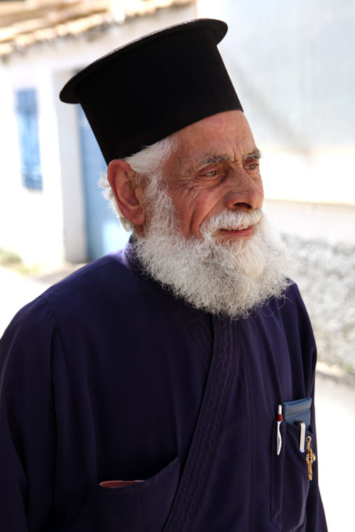 Elderly Orthodox Christian priest