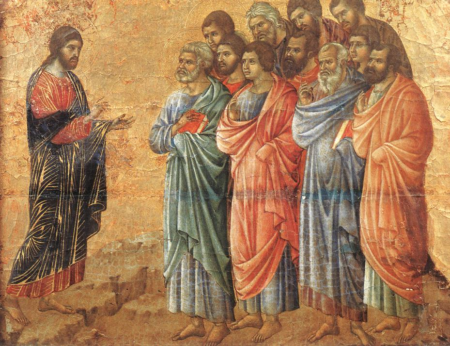 Christ giving commands