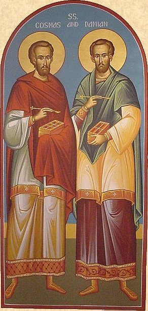 Icon of Sts Cosmas & Damian of Rome