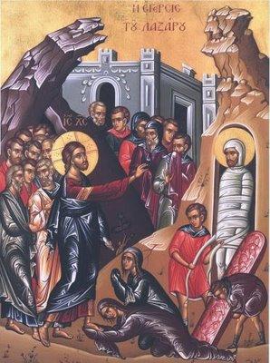The Raising of Lazarus icon