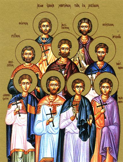 The 9 Kyzikan Martyrs
