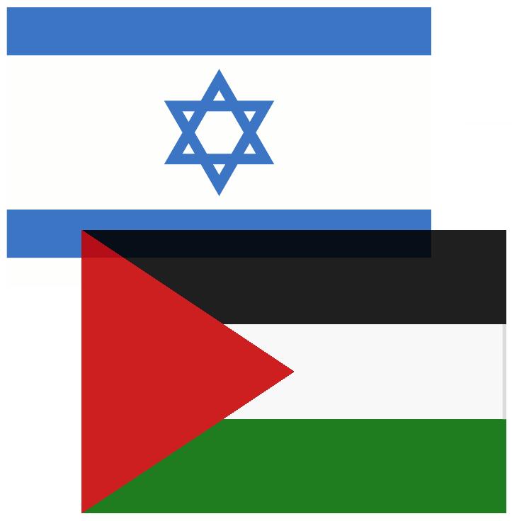Israeli & Palestinian Flags