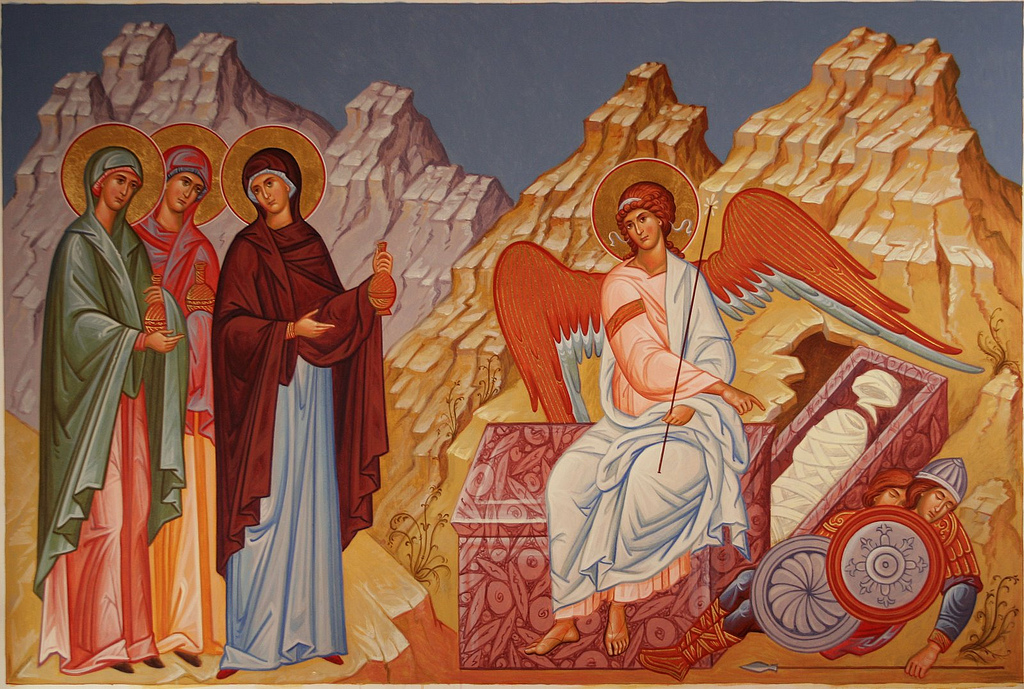 Icon Myrrhbearing women at the tomb