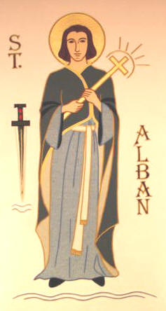 Celtic style icon of St Alban