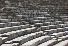 Amphitheatre seats and stairs