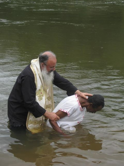Baptism by Bishop Ignatios