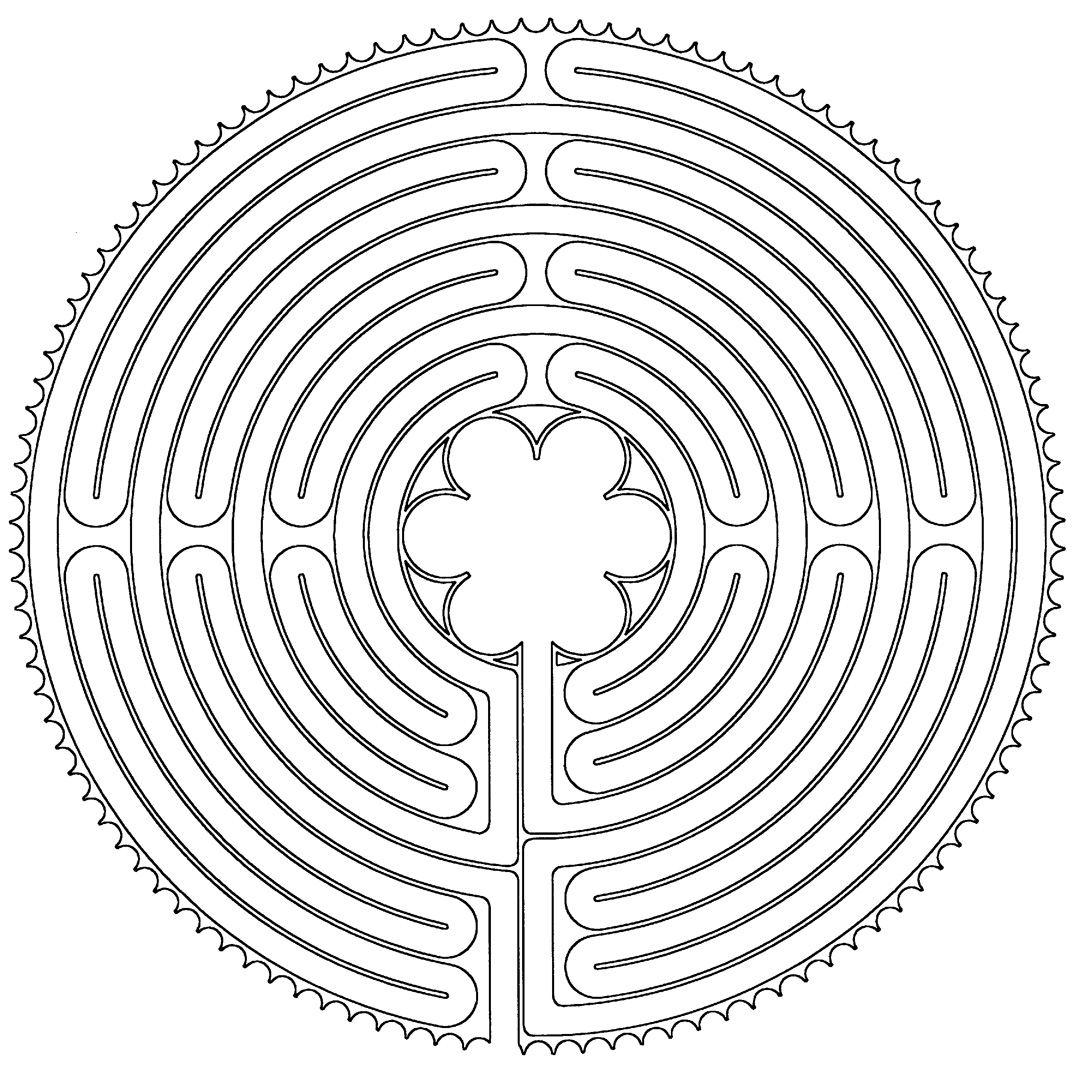 Chartes Cathedral labyrinth plan