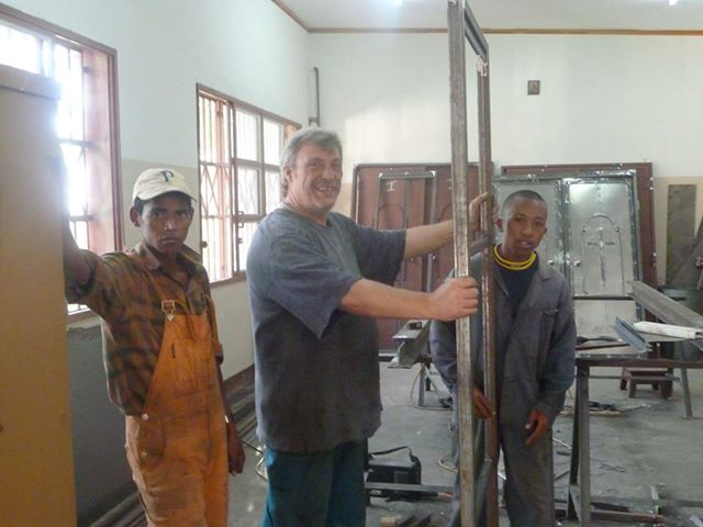 Construction work in Madagascar mission