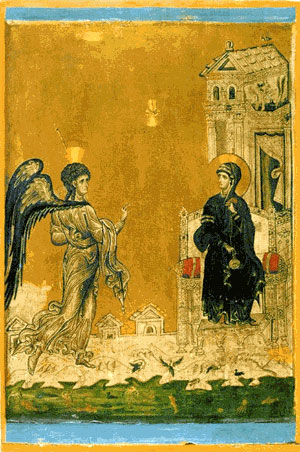 Ancient Festal Ilumination depicting the Annunciation