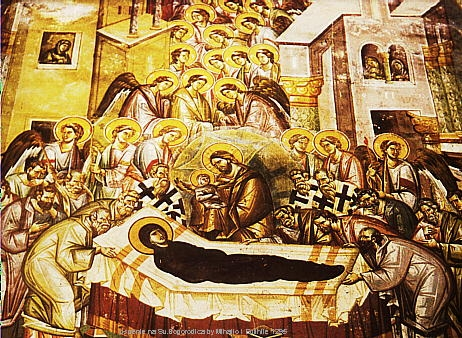 Dormition of the Theotokos frescoe