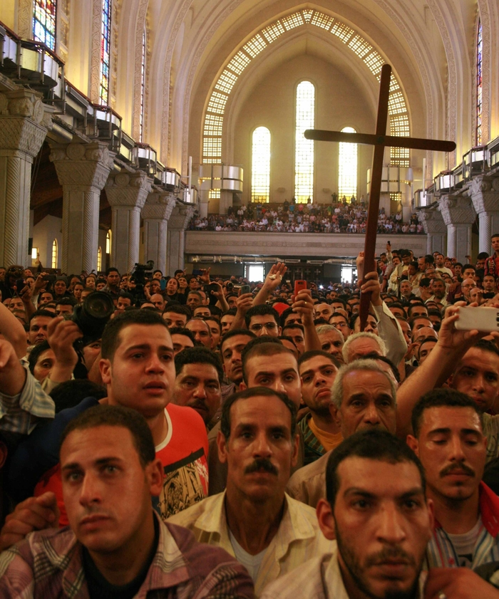 Funeral for 4 slain Copts St Marks cathedral