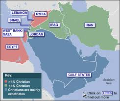 Middle Eastern Christian map