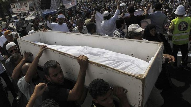 Muslim Brotherhood mourn dead supporter