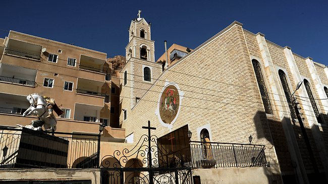 One of many churches under threat in Maaloula
