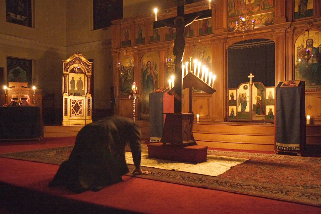 Humble Prostration before the Sacrifice of Love