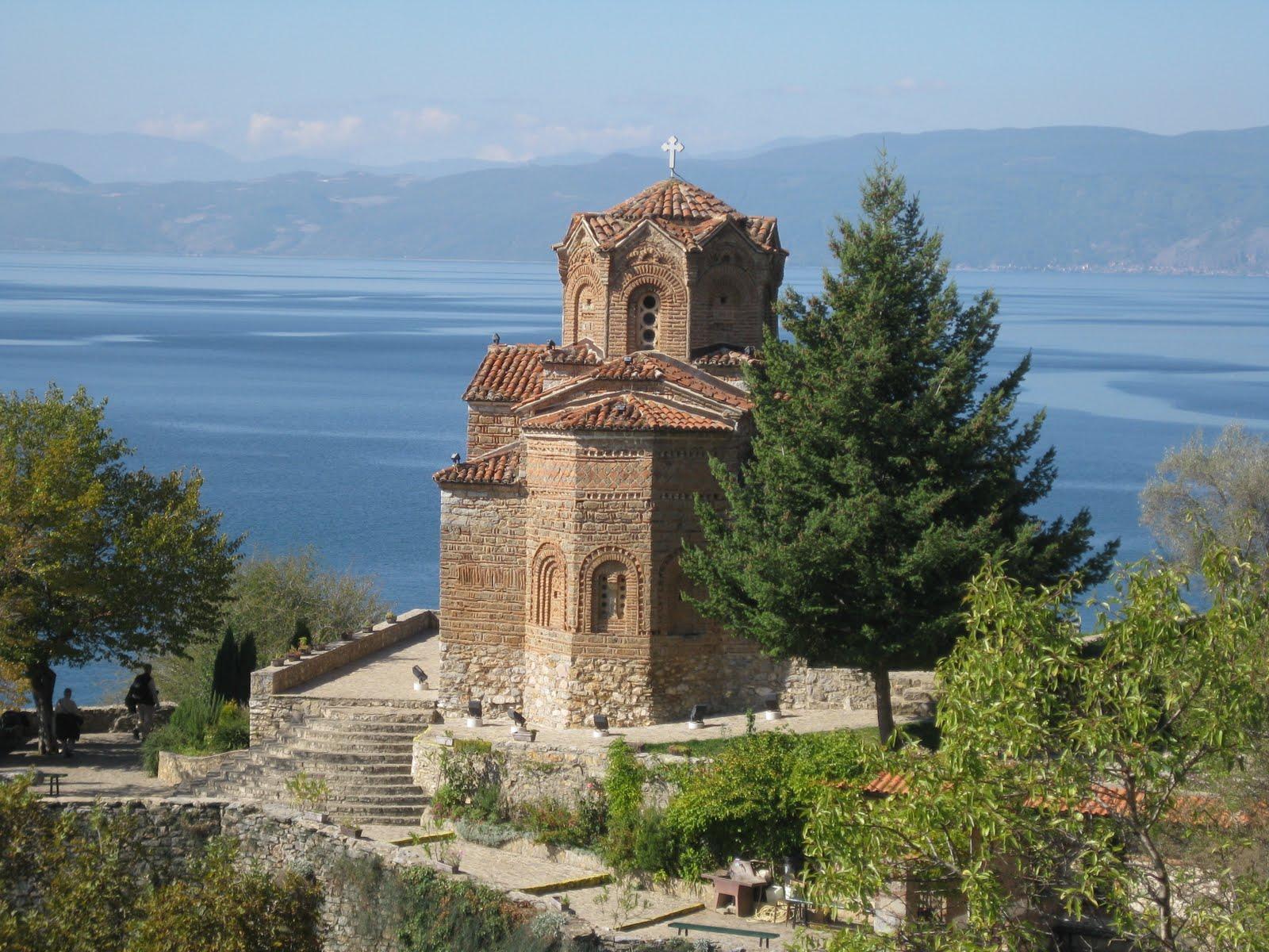 Lake Ohrid Church Panorama