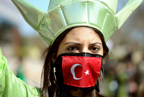 Protest against Turkey about Christian Genocides