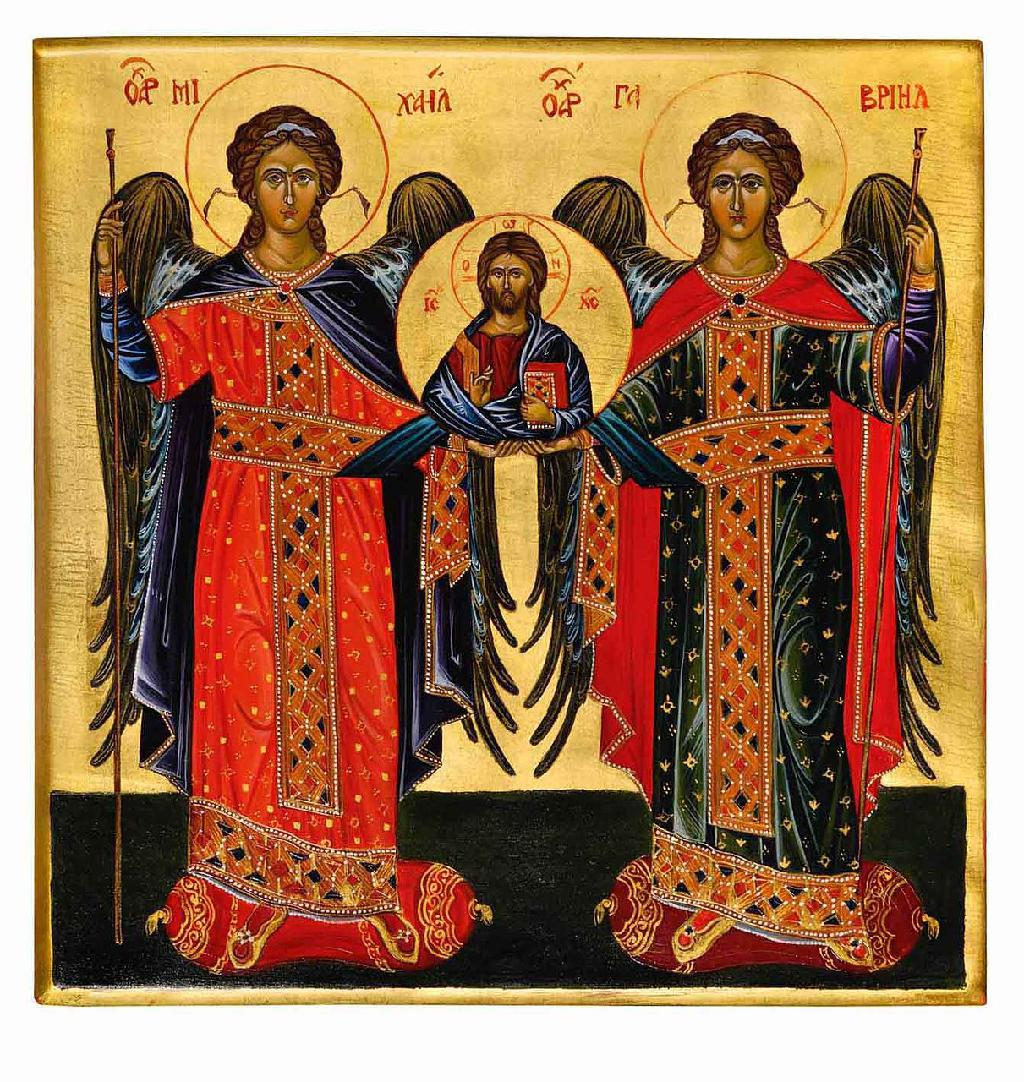 Icon of Taxiarhon - Archangels Gabriel and Michael