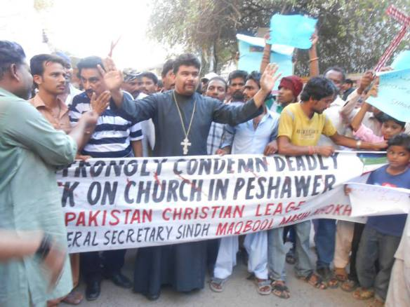 Pakistani Orthodox Protestors